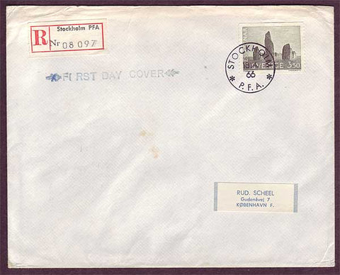 SW5021 Sweden Scott # 665 First Day Cover - Ale's Stones 1966