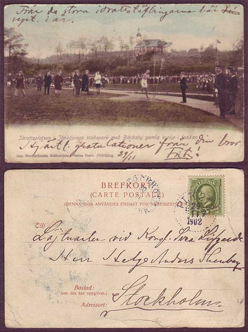 SW5039PH Sweden Early Picture Postcard  -  Sporting Event 1902