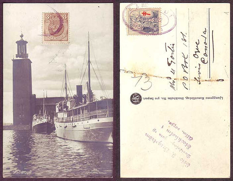 SW5040 Sweden Postcard - Stadshuset (City Hall) in Stockholm 1922