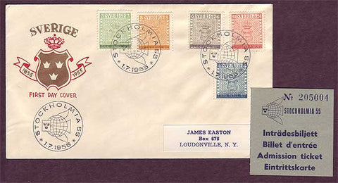 SW5045PH Sweden       First Day Cover - Stockholmia '55