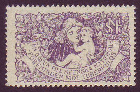SW8004 Sweden - World's First Tuberculosis seal, Christmas 1904