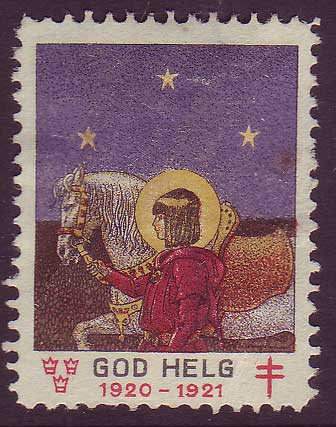 SW8020 Sweden  Christmas seal 1920