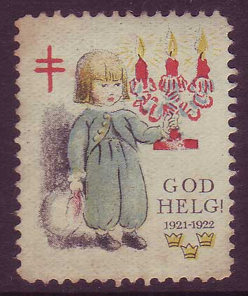 SW8021 Sweden  Christmas seal 1921