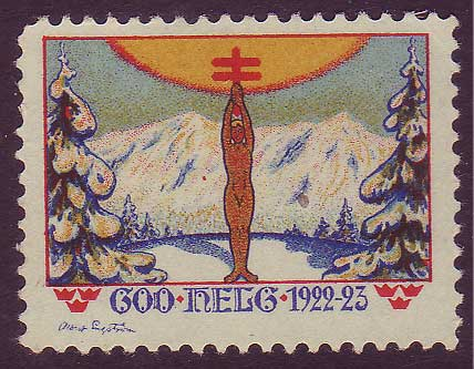 SW8022 Sweden  Christmas seal 1922