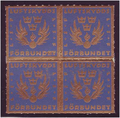 SW8040  Sweden Clean Air Society, block of 4 MNH