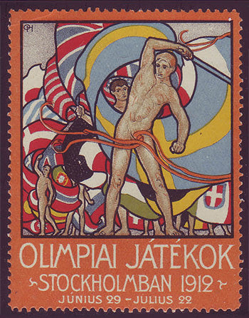 SW9006 Sweden Stockholm 1912 Olympic Games label - Hungarian