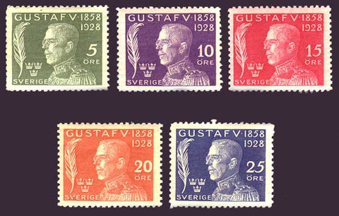 SWB32-361PE Sweden Scott # B32-36 ,  King Gustaf V - 1928