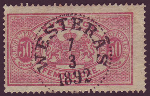 SWO235 Sweden Scott # O23  Official - 1881