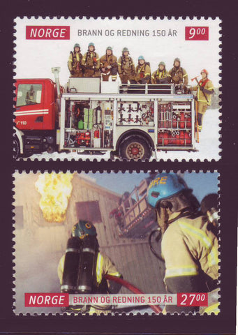 NO1648-491 Norway Scott # 1648-49 MNH, Fire and Rescue Services - 2011