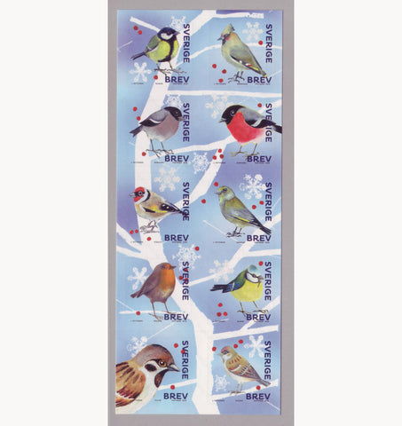 SW2914 Sweden Winter Birds Booklet - 2018