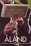 Aland Year Set cover showing marching band musician playing his clarinet.