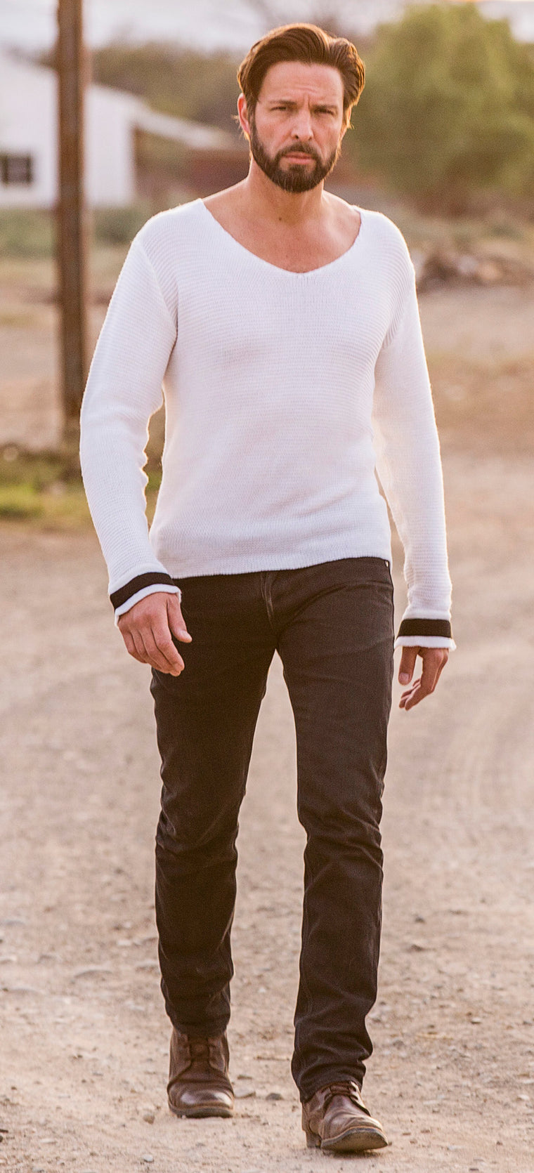 V-Neck Knit Jumper