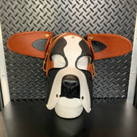 P&C CREATIONS PUP HOOD-ST. BERNARD BLACK BROWN