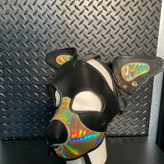 P&C CREATIONS PUP HOOD-HOLOGRAPHIC GOLD