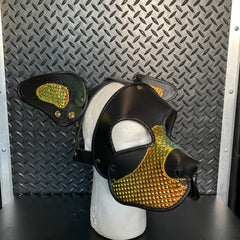 P&C CREATIONS PUP HOOD-HOLOGRAPHIC MULTI-GOLD