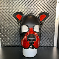 P&C CREATIONS PUP HOOD-HOLOGRAPHIC RED