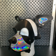 P&C CREATIONS PUP HOOD-HOLOGRAPHIC BLACK/IRIDESCENT