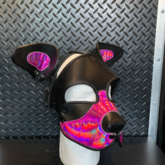 P&C CREATIONS PUP HOOD-HOLOGRAPHIC PINK