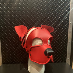 P&C CREATIONS PUP HOOD-PLAIN RED