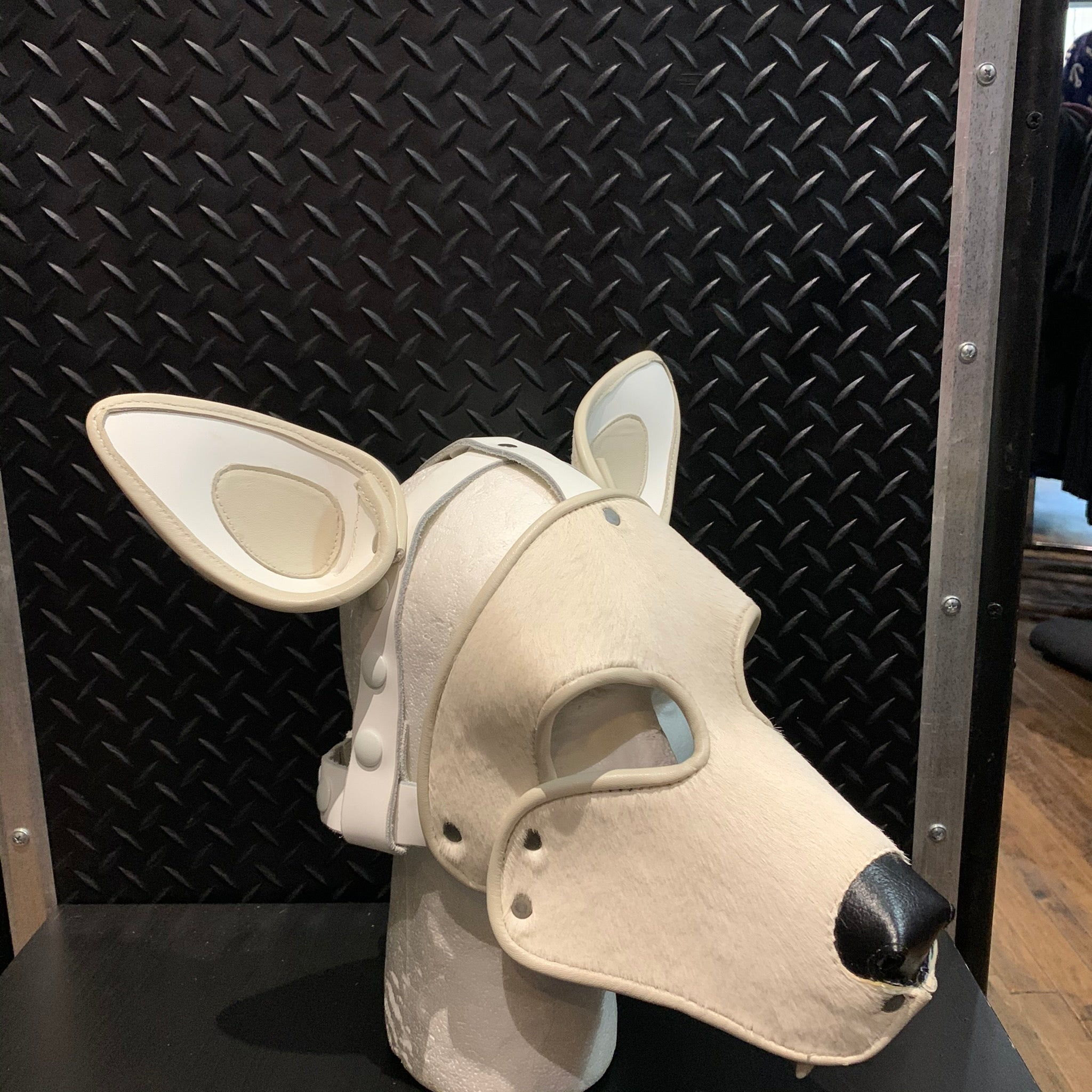 P&C CREATIONS PUP HOOD-WHITE WOLF WITH TEETH