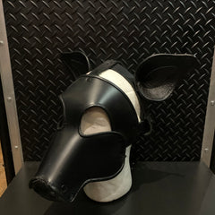 P&C CREATIONS PUP HOOD-PIG BLACK