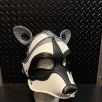 P&C CREATIONS PUP HOOD-RACCOON GREY