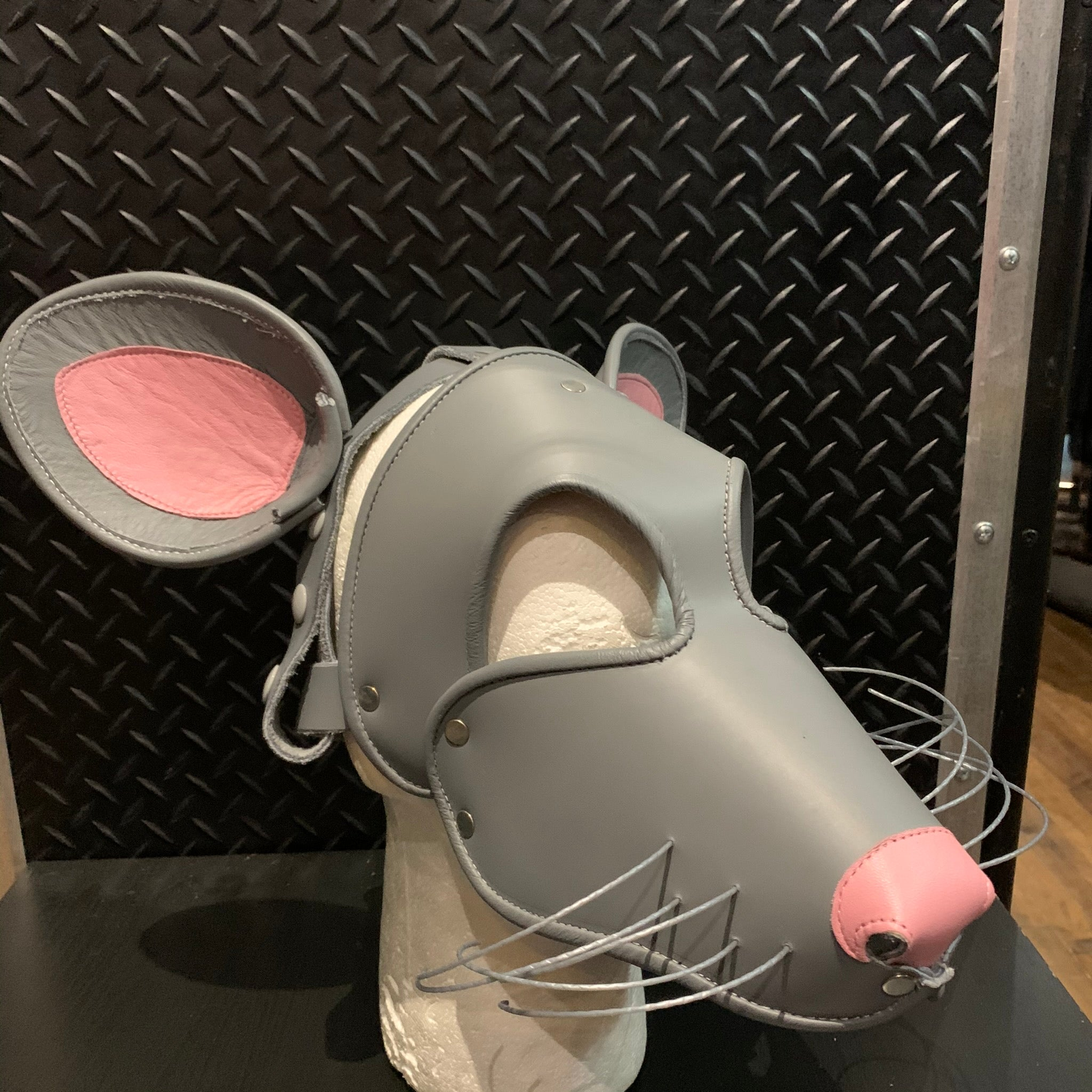 P&C CREATIONS PUP HOOD-MOUSE GREY/PINK
