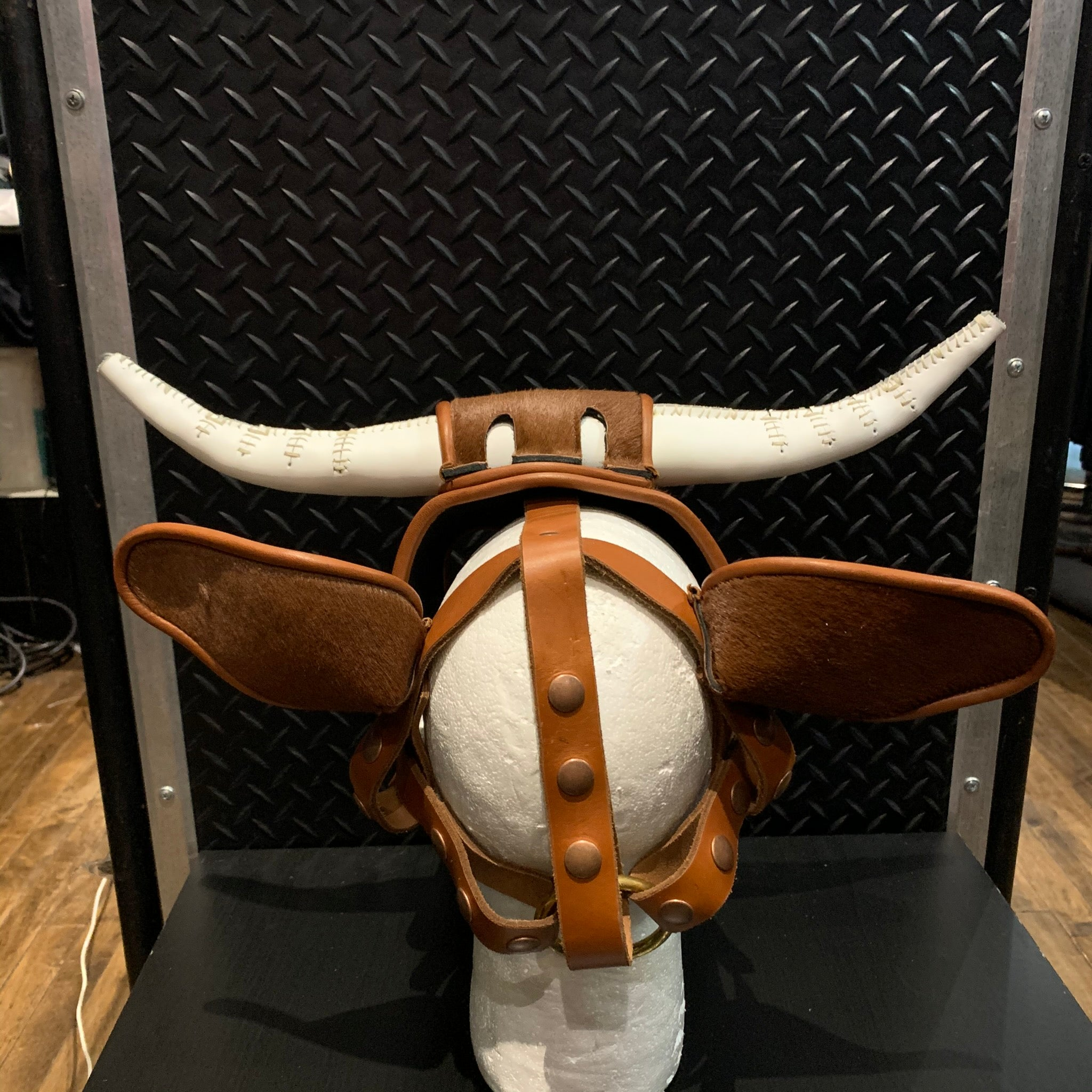 P&C CREATIONS PUP HOOD-BROWN BULL