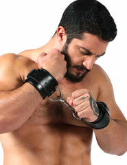Leather Handcuffs - Gay Fetish Gear