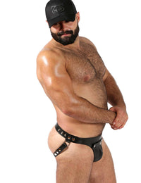 Leather Jockstrap Adjustable Size