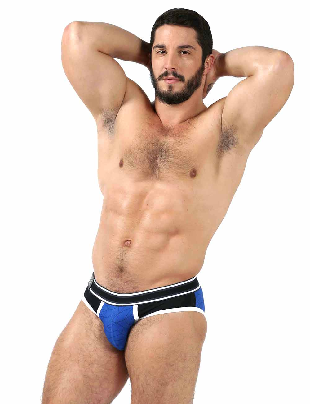 Mr B Urban Castro Male Underwear Brief Blue