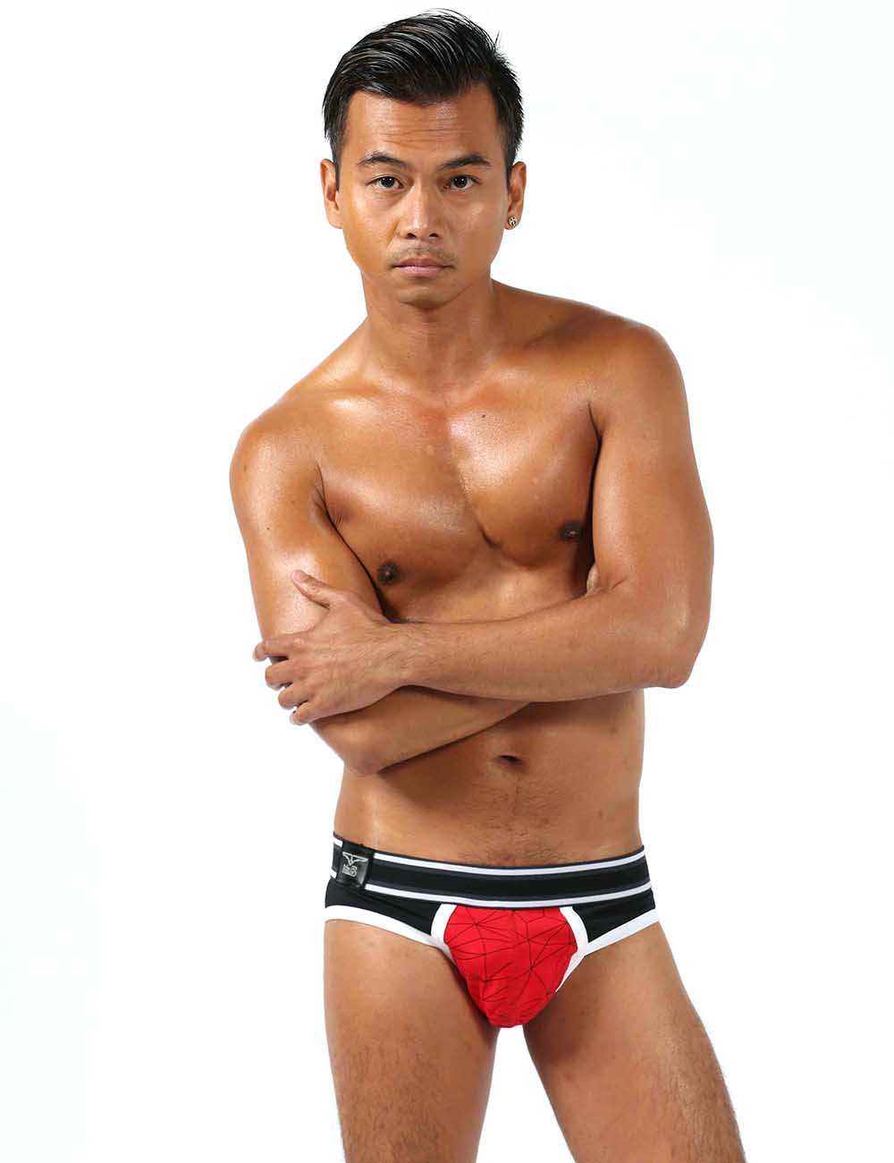 Mr B Urban Castro Male Underwear Brief Red