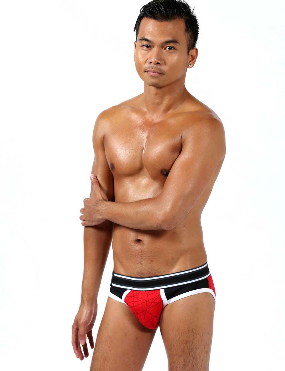 Mister B Urban Castro Gay Males Underwear Brief Red