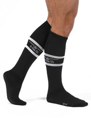 Mr B urban football socks with pocket black