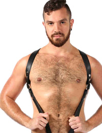 Men's Room Male Leather Chest Harness - ORD