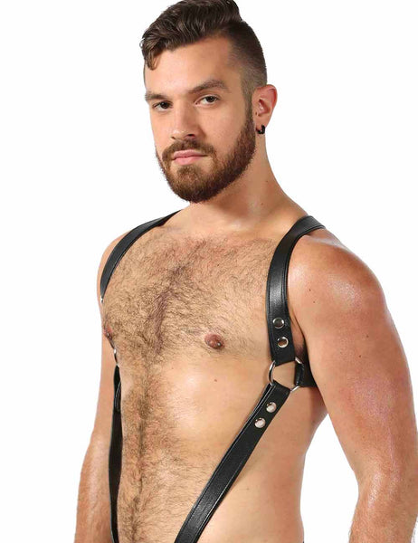 Diagram Sexy Mens Leather Chest Harness