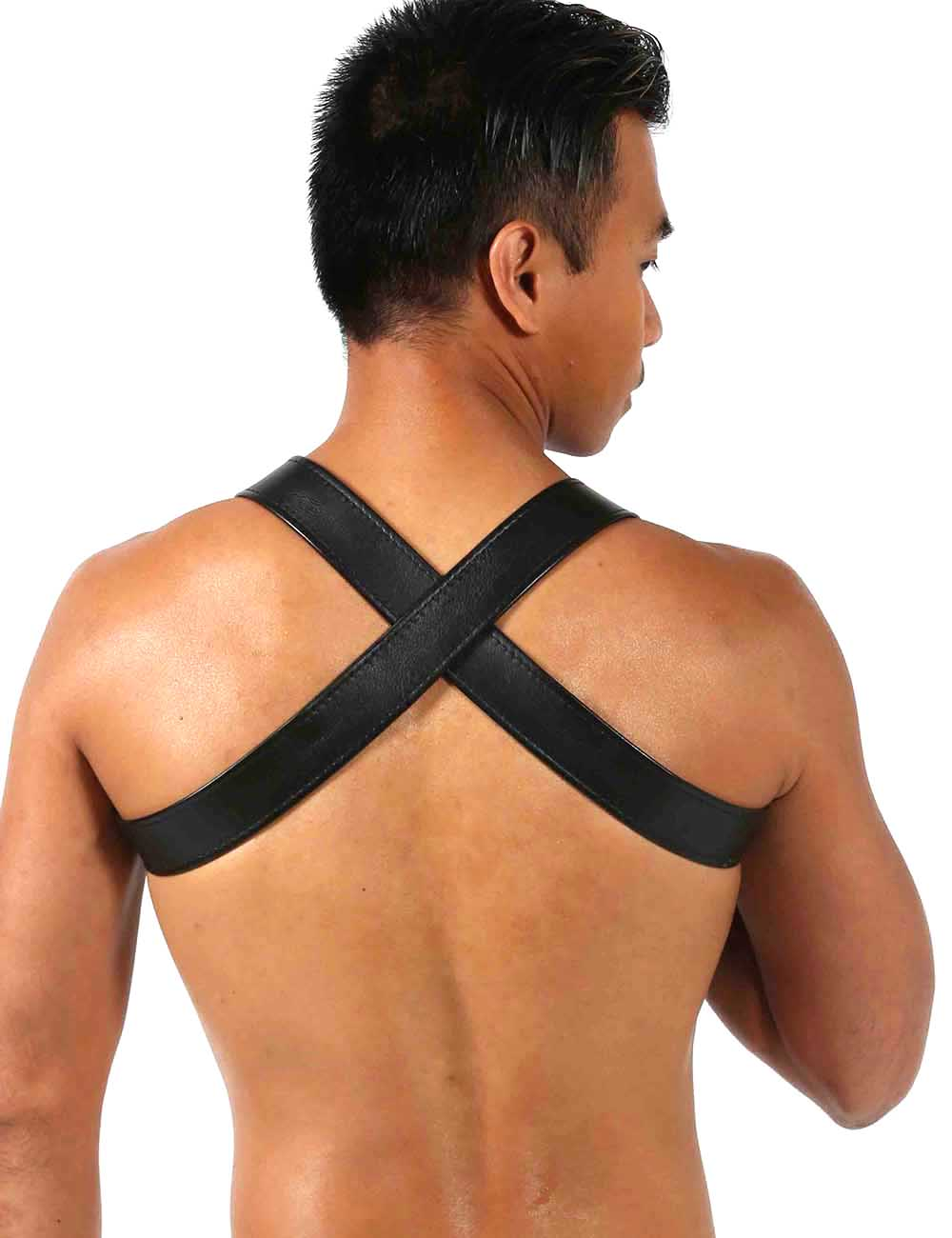 Men's Room Gay Leather Harness Back - YUL