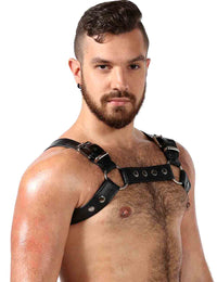 Men's Room Male Leather Chest Harness - YYZ