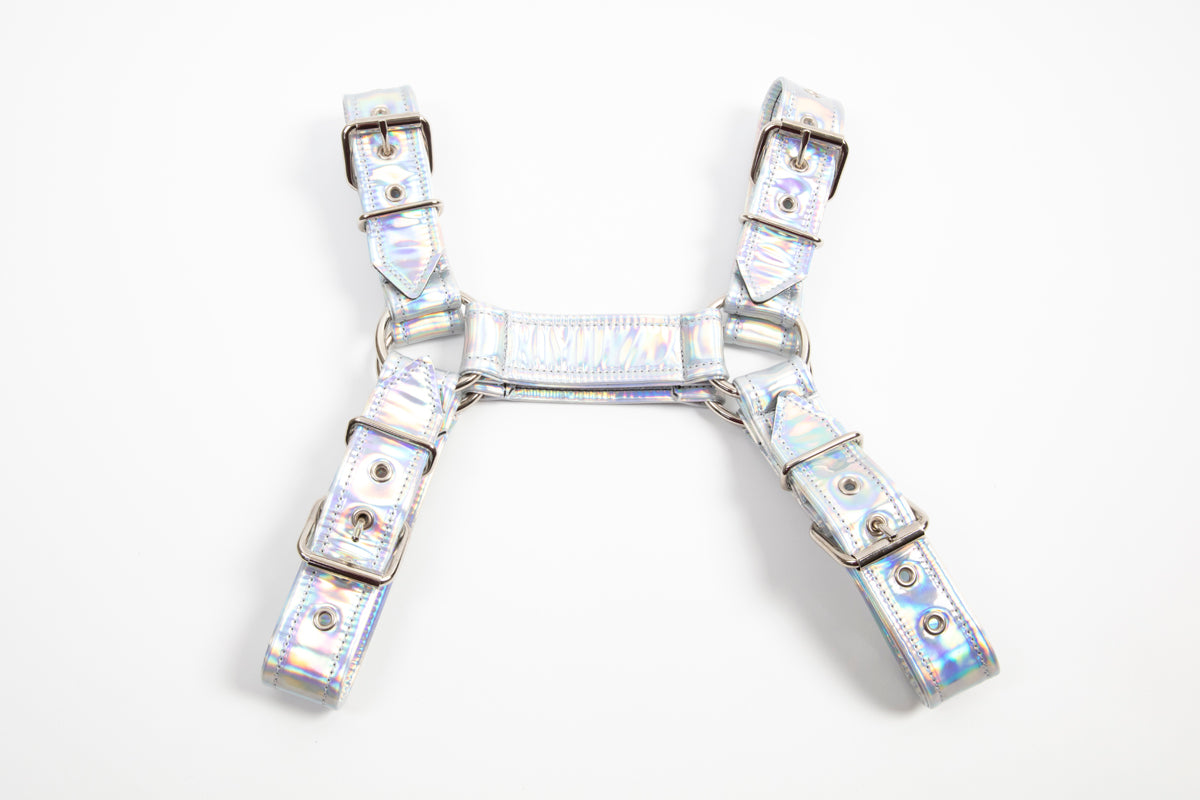 P&C Creations Holographic Bulldog Harness - Various Colors