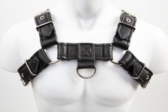 P&C Creations Leather D Ring Bulldog Harness Various Color Options