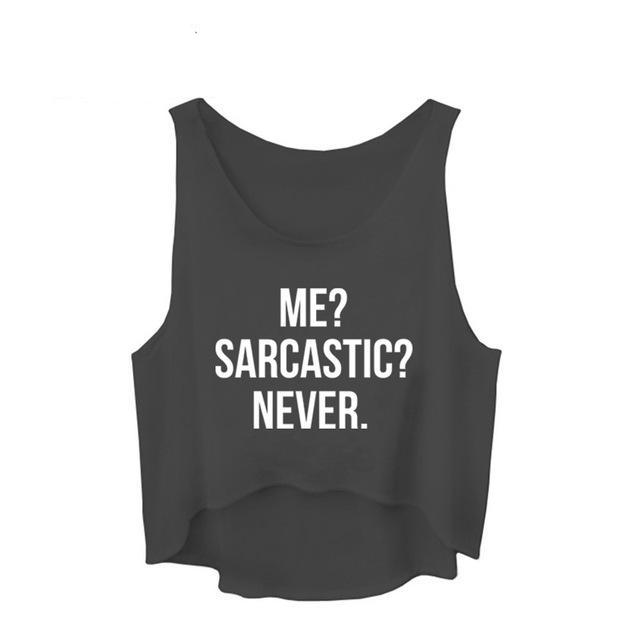 ME SARCASTIC NEVER - Stitch & Seam