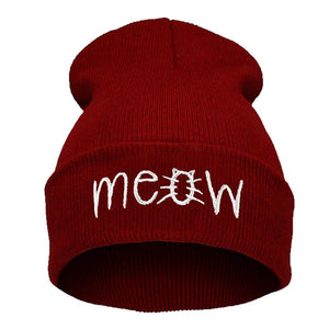 Kitten's Meow Winter Beanie - Stitch & Seam