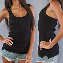 Black Lace shoulder tank
