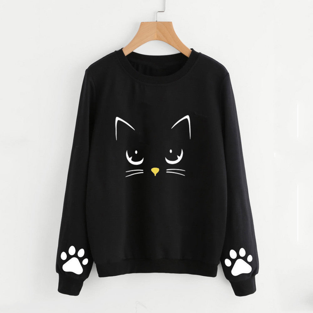 Kitty Face Sweatshirt w/ Paw Sleeves