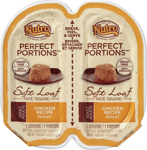 Nutro Perfect Portions Grain-Free Chicken Recipe Cat Food Trays