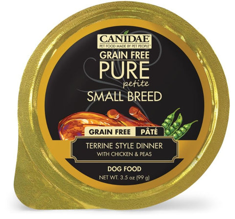 Canidae Grain Free PURE Petite Small Breed Terrine Style Dinner Pate with Chicken and Peas Wet Dog Food
