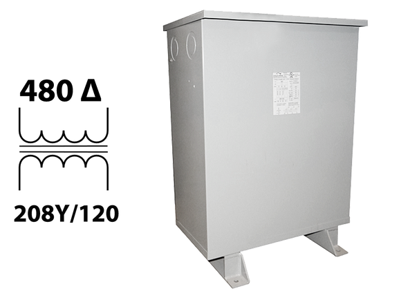 3-Phase 480 Pri 208Y/120 Sec Encapsulated Transformer