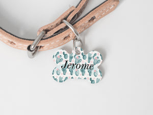 Pet Tag - Bone - Cactus