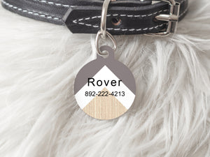 Pet Tag Round- Chevron
