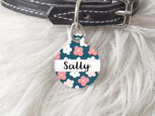 Pet Tag - Round - Flowers